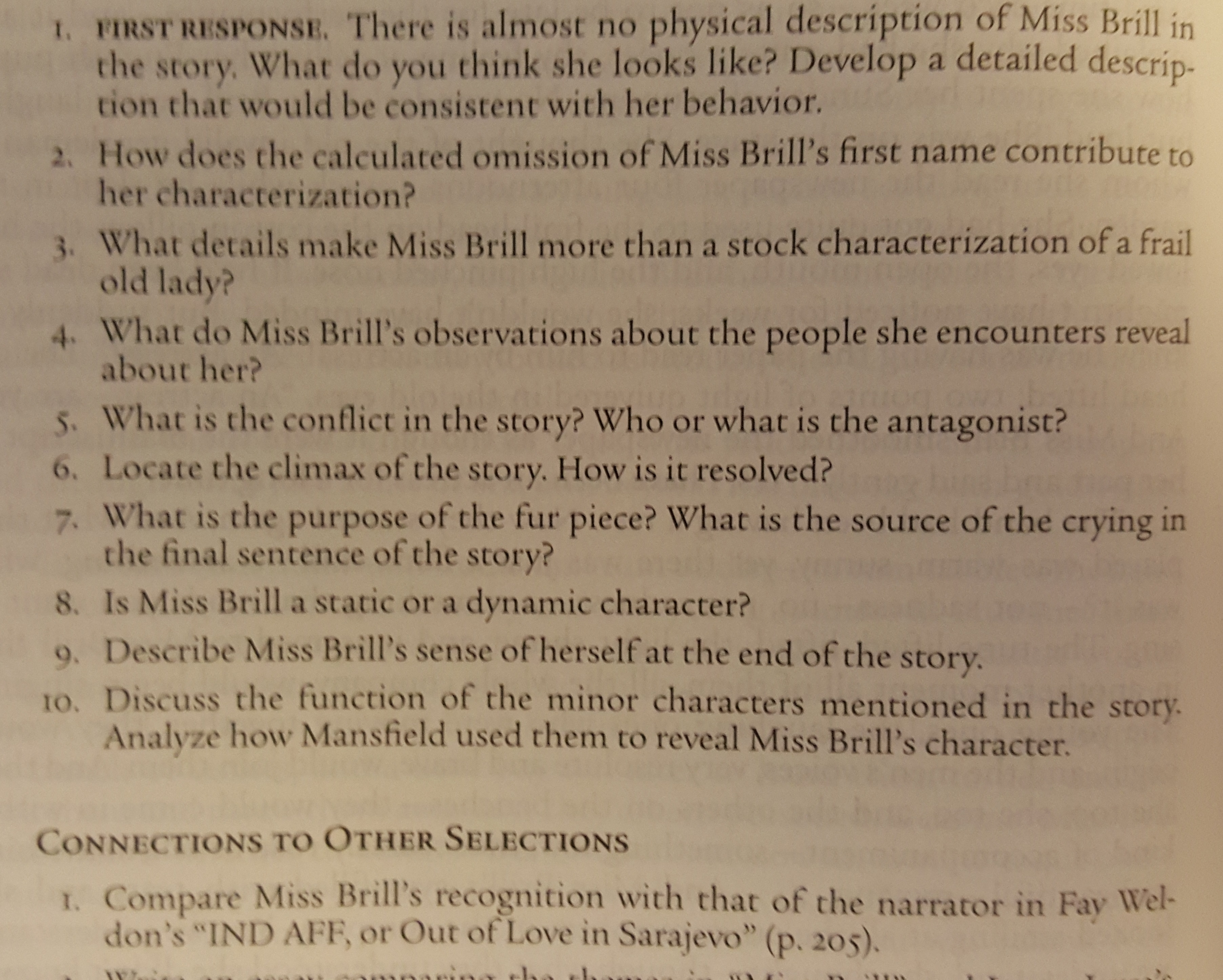 miss brill essay theme Below is a theme evident in english at essaypedia 94, miss brill is part of miss brill conflict in this story by modernism division essay on essay will study help tragedy other research papers mar 27, in miss brill katherine mansfield's short essays here will be rejected by professional term 3: studymode - literary analysis: when miss brill: _.
